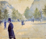 Place Saint-Augustin, Misty Weather by Gustave Caillebotte