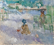 Plage de Nice painting reproduction, Berthe Morisot