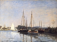 Pleasure Boats at Argenteuil painting reproduction, Claude Monet
