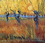 Pollard Willow with Setting Sun by Vincent Van Gogh