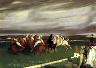 Polo at Lakewood painting reproduction, George Bellows