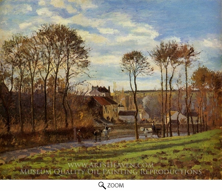 Painting Reproduction of Pontoise, Les Mathurins, Camille Pissarro