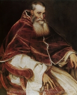 Pope Paul painting reproduction, Titian