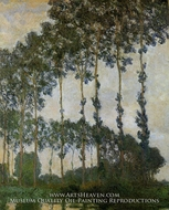 Poplars near Giverny, Overcast Weather by Claude Monet