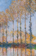 Poplars, White and Yellow Effect by Claude Monet
