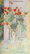 Poppies in a Vase by Pierre Bonnard