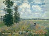 Poppy Field, Argenteuil painting reproduction, Claude Monet