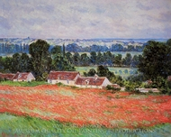 Poppy Field at Giverny painting reproduction, Claude Monet