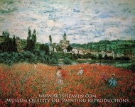 Poppy Field near Vetheuil by Claude Monet