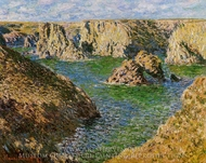 Port Donnant, Belle Ile painting reproduction, Claude Monet