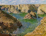 Port Donnant, Belle Ile by Claude Monet