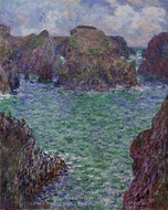 Port-Goulphar, Belle-Ile painting reproduction, Claude Monet