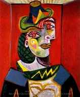 Portrait de Dora Maar painting reproduction, Pablo Picasso (inspired by)