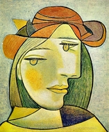 Portrait de Femme au Chapeau painting reproduction, Pablo Picasso (inspired by)