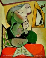 Portrait de Femme (Femme Lisant) by Pablo Picasso (inspired by)