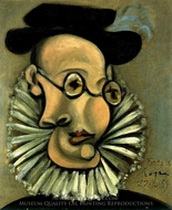 Portrait de Jaime Sabartes en Grand d'Espagne painting reproduction, Pablo Picasso (inspired by)