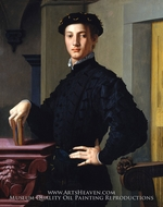 Portrait de Jeune Homme (Portrait of a Young Man) painting reproduction, Agnolo Bronzino