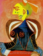 Portrait de Lee Miller a L'Arlesienne by Pablo Picasso (inspired by)