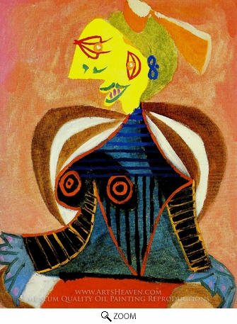Painting Reproduction of Portrait de Lee Miller a L'Arlesienne, Pablo Picasso (inspired by)