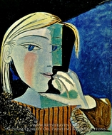 Portrait de Marie-Therese Walter by Pablo Picasso (inspired by)