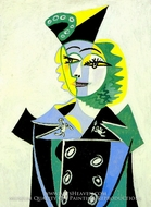 Portrait de Nush Eluard by Pablo Picasso (inspired by)