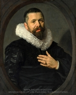 Portrait of a Bearded Man with a Ruff painting reproduction, Frans Hals