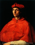 Portrait of a Cardinal by Raphael Sanzio