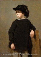 Portrait of a Child by Jean-Baptiste Camille Corot