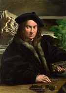 Portrait of a Collector painting reproduction, Parmigianino