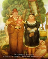 Portrait of a Family painting reproduction, Fernando Botero