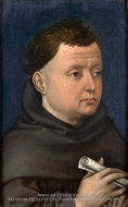 Portrait of a Franciscan by Robert Campin