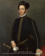 Portrait of a Gentleman (Il Gentile Cavaliere) by Giovanni Battista Moroni