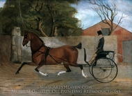 Portrait of a Gentleman in a Carriage painting reproduction, Edgar William