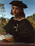 Portrait of a Knight of Rhodes painting reproduction, Franciabigio