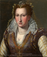 Portrait of a Lady painting reproduction, Agnolo Bronzino