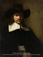 Portrait of a Man painting reproduction, Rembrandt Van Rijn