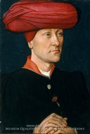 Portrait of a Man in a Turban painting reproduction, Netherlandish Painter