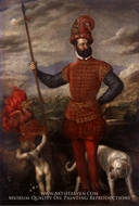 Portrait of a Man in Military Costume by Titian