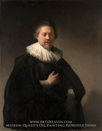 Portrait of a Man, member of the Van Beresteyn Family painting reproduction, Rembrandt Van Rijn