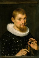 Portrait of a Man, Possibly an Architect or Geographer painting reproduction, Peter Paul Rubens
