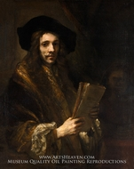 Portrait of a Man (The Auctioneer) by Rembrandt Van Rijn