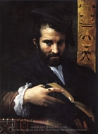 Portrait of a Man with a Book painting reproduction, Parmigianino