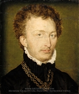 Portrait of a Man with a Gold Chain painting reproduction, Corneille De Lyon