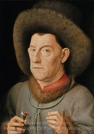 Portrait of a Man with Carnation painting reproduction, Jan Van Eyck