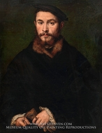 Portrait of a Man with Gloves by Corneille De Lyon