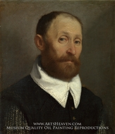 Portrait of a Man with Raised Eyebrows by Giovanni Battista Moroni