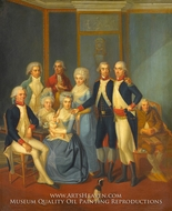 Portrait of a Military Family by Jean-Jacques Hauer