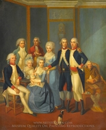 Portrait of a Military Family painting reproduction, Jean-Jacques Hauer