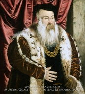 Portrait of a Nobleman painting reproduction, Hans Mielich