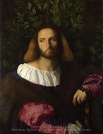 Portrait of a Poet painting reproduction, Palma Vecchio
